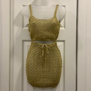 Never worn! Gold beach cover up